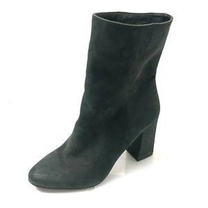 LUCKY BRAND Walwyn US 8 Black Gray Leather Boots